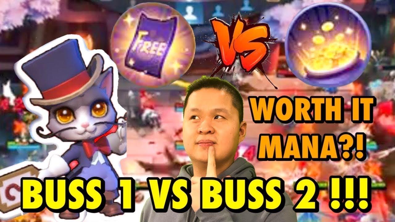 BUSS 1 VS BUSS 2 OP MANA?!?