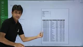 MS Excel - Print Page Setup
