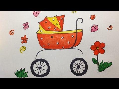 craddle-dibujos-para-colorear- -cómo-dibujar-bebé-cuna- -videos-de-dibujar