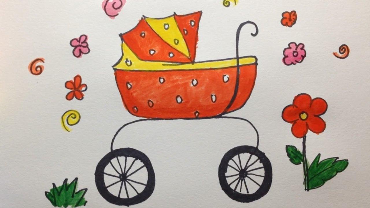 Craddle Dibujos Para Colorear Cómo Dibujar Bebé Cuna Videos De Dibujar