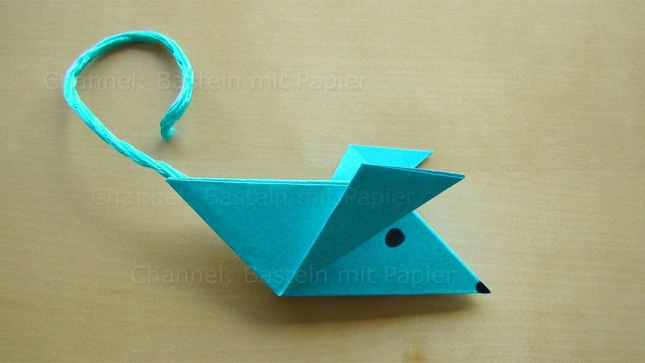 origami maus falten einfache maus basteln mit papier. Black Bedroom Furniture Sets. Home Design Ideas