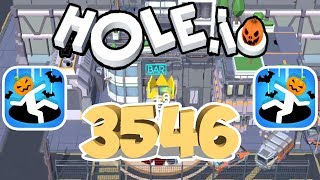 Hole.io - Gameplay - New Future City - Highscore (3546) - (iOS - Android)