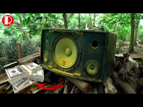 Restoration Broken Sound DMD Speakers - Restore And Reuse Old Speakers