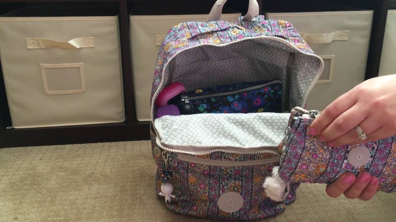 Review Ng Video Kipling Caity Backpack Packed As A Diaper Bag For Two Babies