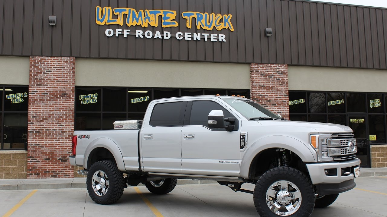 """Lifted Ford F250 >> 2017 Superduty 6"""" BDS 4-Link Coil-Over // Ultimate Truck - YouTube"""