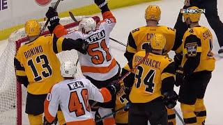 Питтсбург – Филадельфия (27.03.17) Разгром «Пингвинов» и драка...