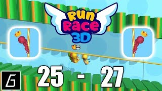 Run Race 3D Gameplay - Levels 25 - 27 + Bonus Levels - (iOS - Android)