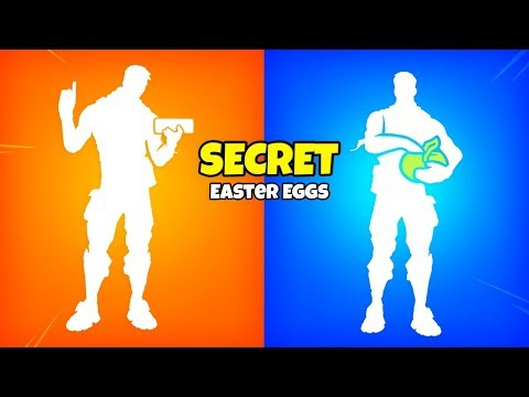Fortnite SECRET EMOTE Easter Eggs..!
