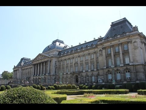 Scenes from the Royal Palace in Brussels, Belgium