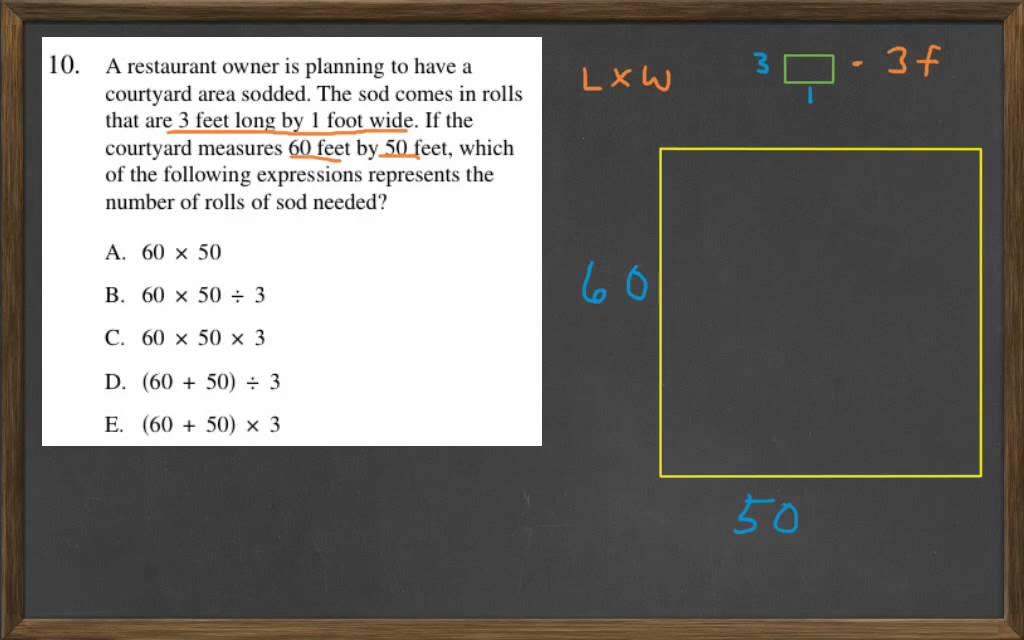HiSET Math Free Practice Test 2 #10 - YouTube