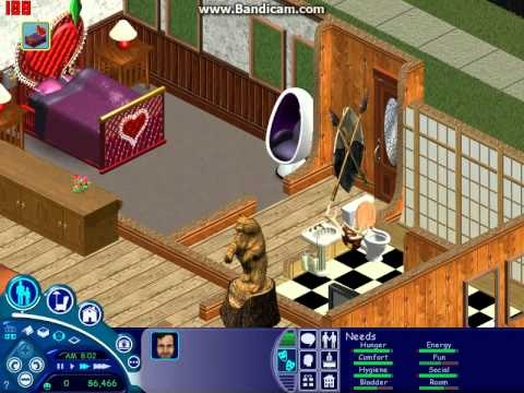 Lets Play The Sims : Part 2 - Disappearing Doors