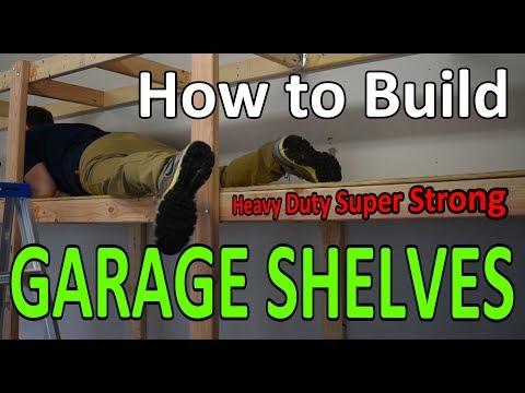 Easy to Build DIY Garage Shelves - SUPER STRONG!!!