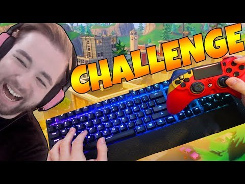Using KEYBOARD and CONTROLLER (FORTNITE BATTLE ROYALE)