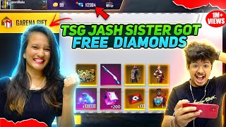 Free Dj Alok & Diamonds For My Sister  || Making Her Noob Account Pro - Two Side Gamers