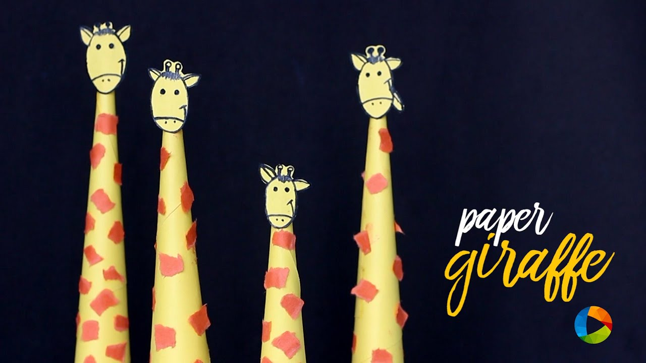DIY : Paper Giraffe - Easy arts and crafts - YouTube - photo#26