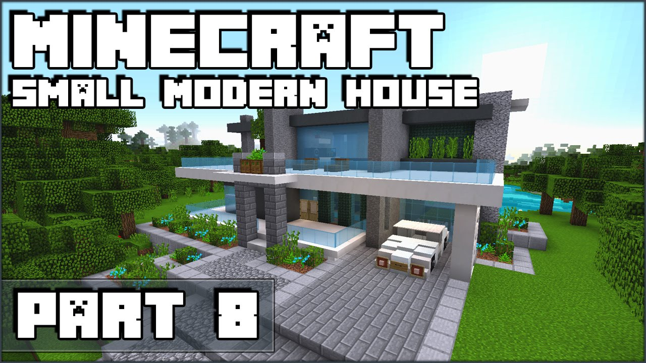 how to make a small modern house in minecraft part 8