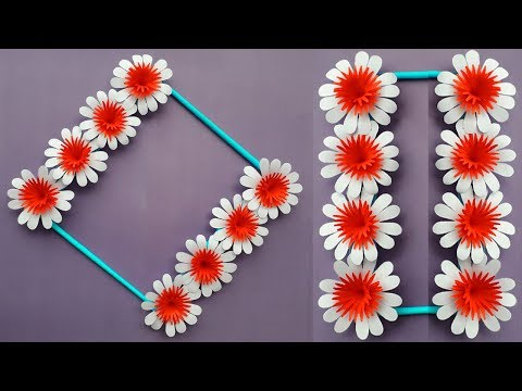 DIY : Paper Flower Wall Hanging | Wall Decoration Idea | Simple Home Decoration Idea