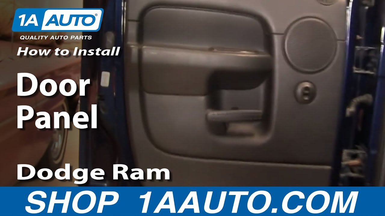 How To Remove Rear Door Panels 02 08 Dodge Ram 1500 Youtube