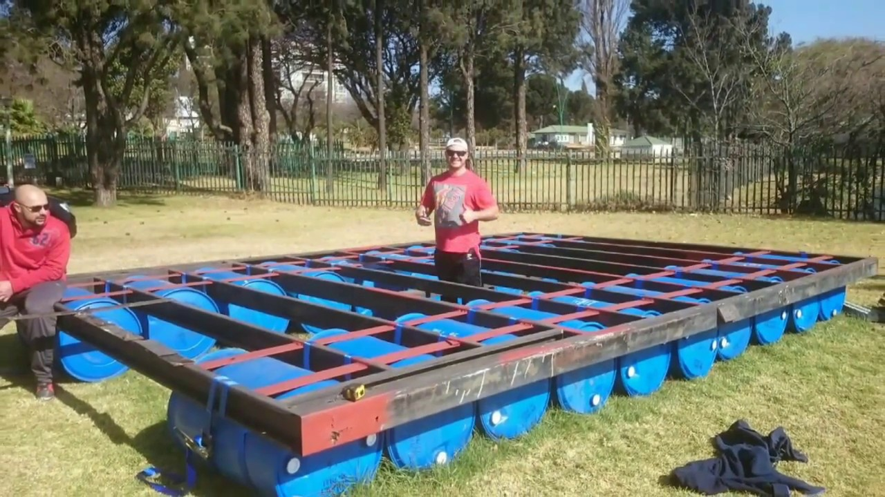 Building A Party Pontoon Barge From Start To Finish Youtube