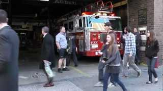 visit new york city fire department Engine 54-Ladder 4/128-Battalion 9 Part 1