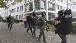 Amokübung - 3 Täter - viele Verletzte in Alexander-von-Humboldt-Gymnasium Bornheim 15.10.19. + O-Ton