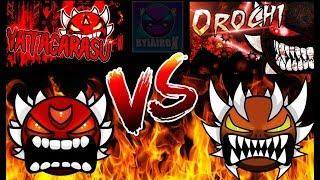 OROCHI VS YATAGARASU [ LEGENDARY DEMON BATTLE ] ( Geometry Dash Extreme Demons )