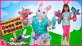 Caça aos Ovos Surpresa de Páscoa com o Coelho da Páscoa ! Egg Hunt Easter with the Easter Bunny