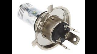 Светодиодные лампы H4 для фар старых автомобилей. Тест/сравнение/установка.(Перед владельцами старых автомобилей часто встаёт проблема чрезмерного расхода электроэнергии от постоян..., 2016-02-10T19:00:17.000Z)
