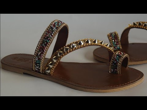 how to make slippers Arabian  sequence thumbnail