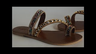 how to make slippers Arabian sequence