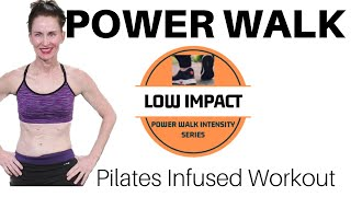 55 MINUTE WORKOUT |POWER WALK & PILATES INFUSED WORKOUT|  INDOOR WALKING | LOW IMPACT WALK