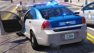 LSPDFR - Day 929 - Armed Robbery in Strawberry (Virginia State Police)