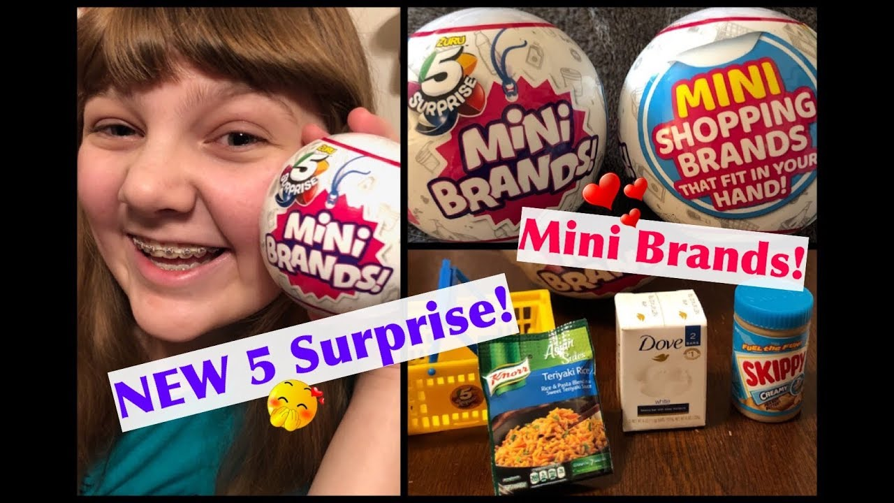 New 5 Surprise Mini Brands Opening Blind Box Toys Real Brands Doll