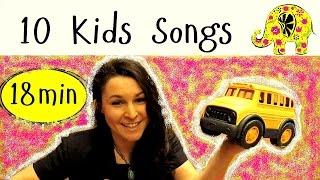 Wheels On The Bus | 10 Nursery Rhymes | 10 Детских песен на английском(В этом видео вы найдете десять известных английских детских песен. Ваш ребенок с легкостью сможет повторят..., 2015-09-26T07:18:00.000Z)