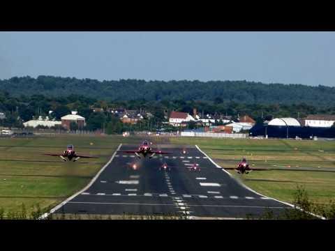 Runways End - Red Arrows leaving Farnborough Airport -  07/09/16