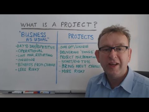 The difference between projects and business as usual