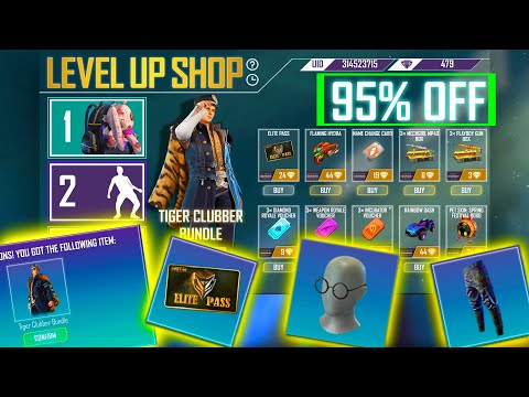Free Fire Best Level Up Shop Event  | I Brought All Items In Level Up Shop Event | Free Fire