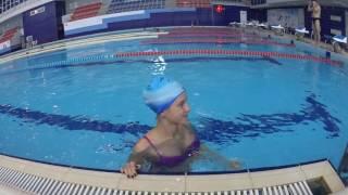 05 12 2016  Юля 3 е занятие не умела плавать совсем