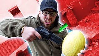 Revolver für die Selbstverteidung mit GUMMI GESCHOSSEN! - Schusstest von Umarex HDR 50 Co2