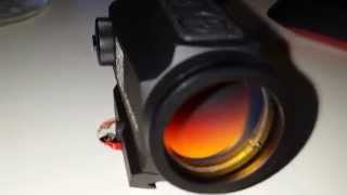 holosun red dot sight angled front lens