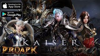 KAISER Gameplay Android / iOS (Open World MMORPG) (KR)
