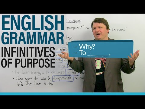 Learn English Grammar: Infinitives of Purpose