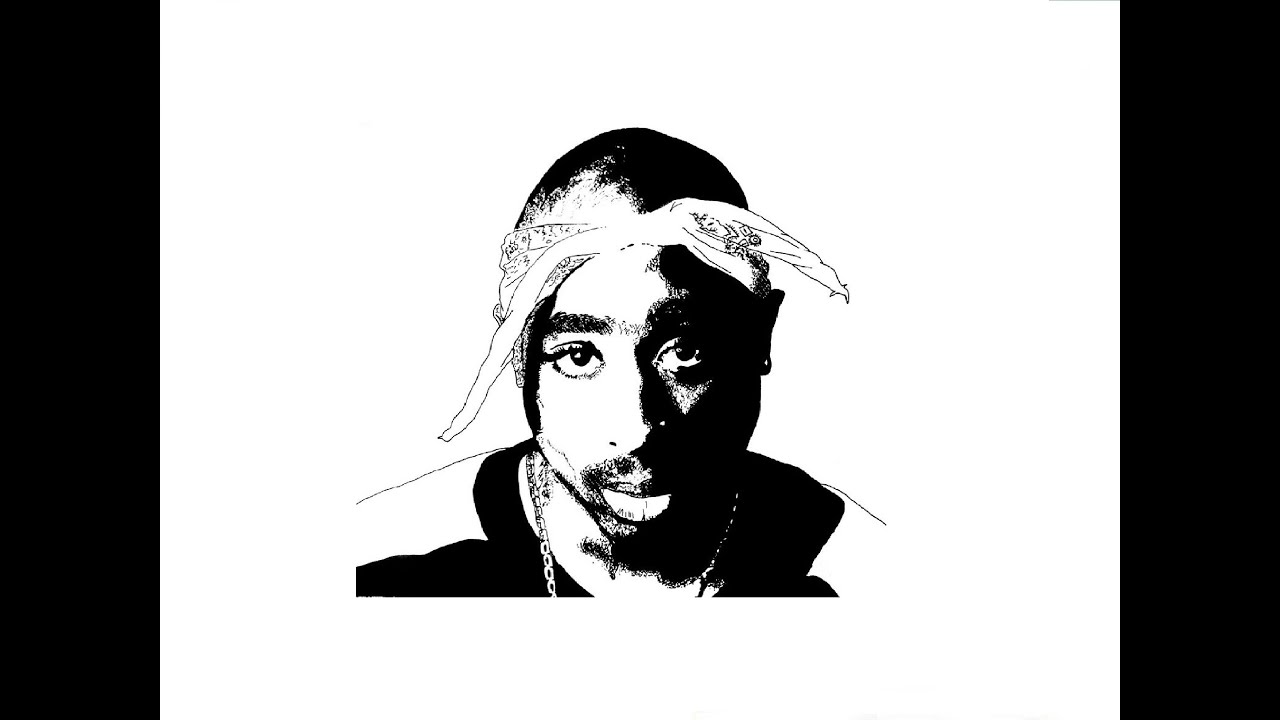 speed drawing 2pac Б����ое �и�ование Т�пак Шак�� youtube