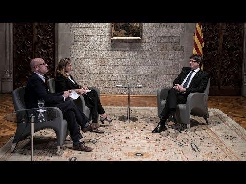 Entrevista d'Esther Vera i David Miró al president Carles Puigdemont