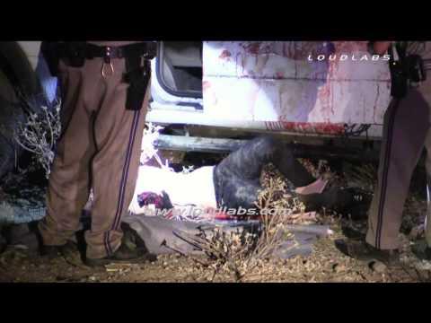 Solo Vehicle Fatal Crash / Moreno Valley  *parts graphic*  RAW FOOTAGE