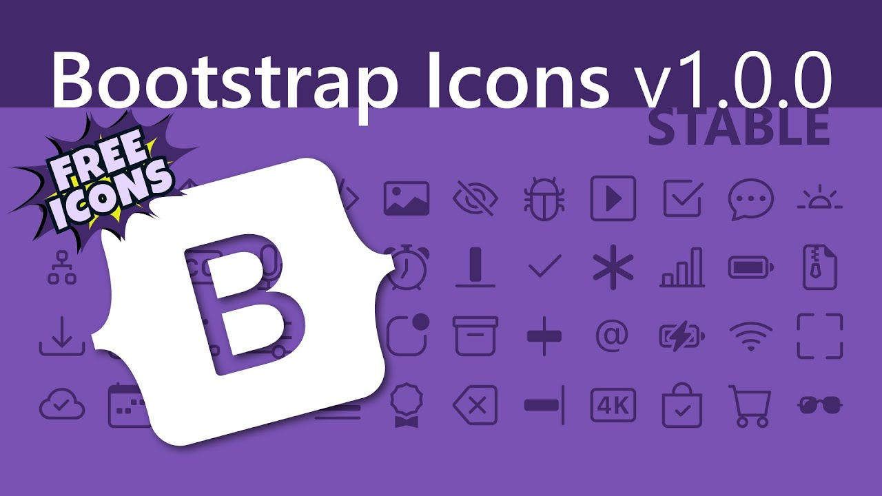 FREE Icons! How to use Bootstrap Icons v1.0.0 | Bootstrap 5 (2020)