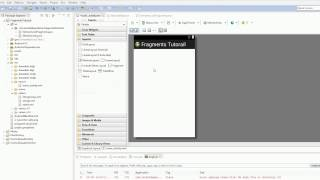 Android 4.0 Tutorials - 33. Fragments Revisited - Part 2 - Setting the First Fragment