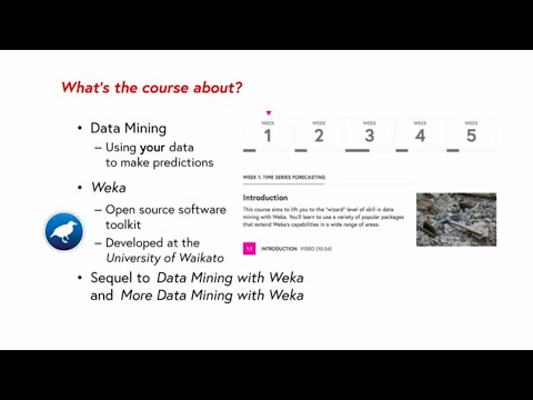 Advanced Data Mining With Weka – Free Online Course At Futurelearn.com