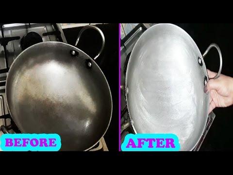 एल्यूमिनियम के कड़ाही और कूकर को नये जैसा चमकाए  | How to clean Aluminum Utensils | Pooja Luthra