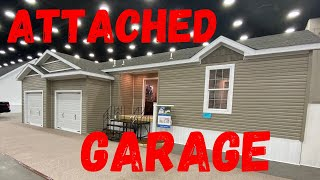 New mobile home with attached garage! This is CRAZY! Double wide home tour by Mobile Home Masters